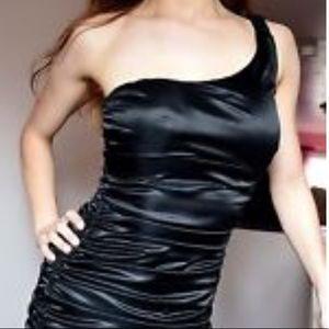 👗❤️ RUBY ROX Satin Ruched Dress